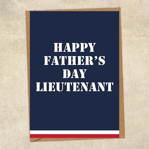 Happy Father's Day Lieutenant Father's Day Card Military Card