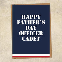 Happy Father's Day Officer Cadet Commander Father's Day Card Military Card