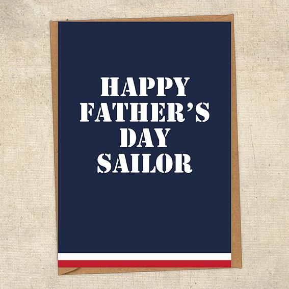 Happy Father's Day Salior Father's Day Card Military Card