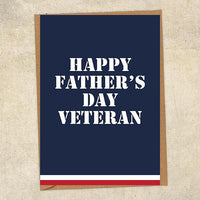 Happy Father's Day Veteran Father's Day Card Military Card