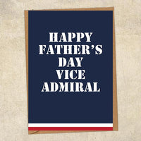 Happy Father's Day Vice Admiral Father's Day Card Military Card