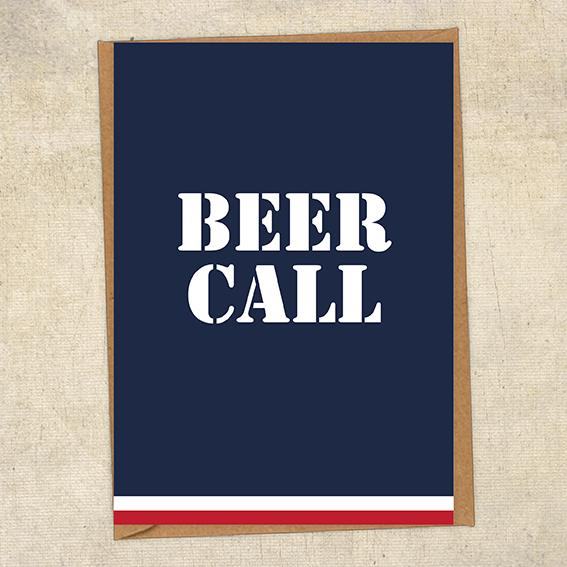 Beer Call Navy Greetings Card UK Military Card