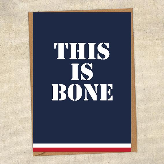 This Is Bone Navy Greetings Card UK Military Card