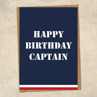 Happy Birthday Captain Navy Birthday Card UK Military Card