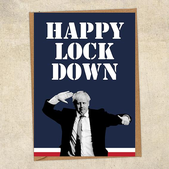 Happy Lockdown Boris Johnson Navy Birthday Card UK Military Card