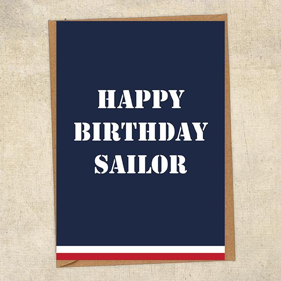 Happy Birthday Sailor Navy Birthday Card UK Military Card