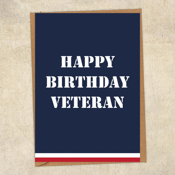 Happy Birthday Veteran Navy Birthday Card UK Military Card