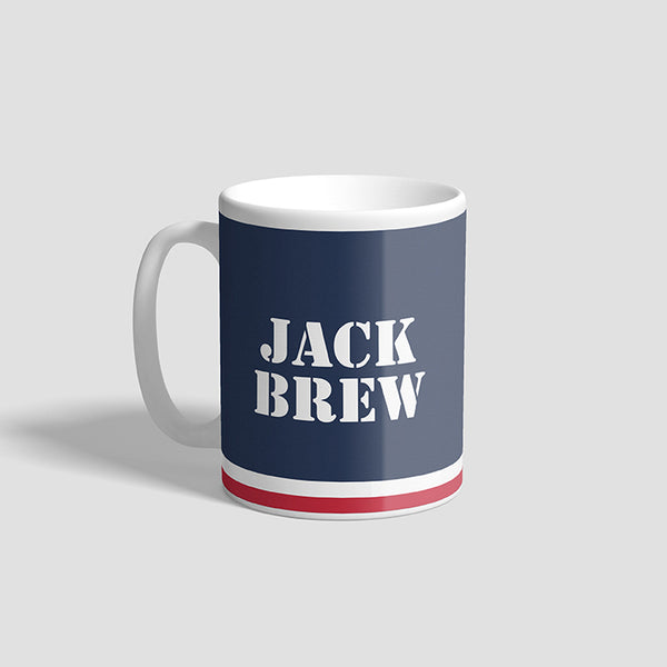 Jack Brew Navy Ceramic Military Mug