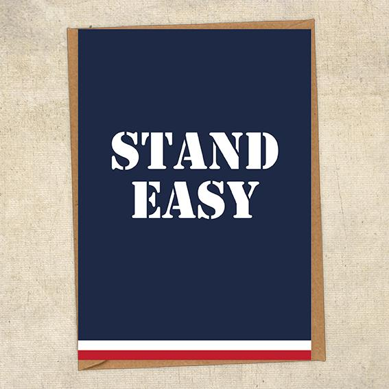 Stand Easy Navy Sympathy Greetings Card UK Military Card