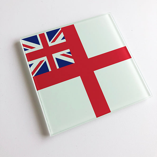 Navy Ensign Glass Coaster