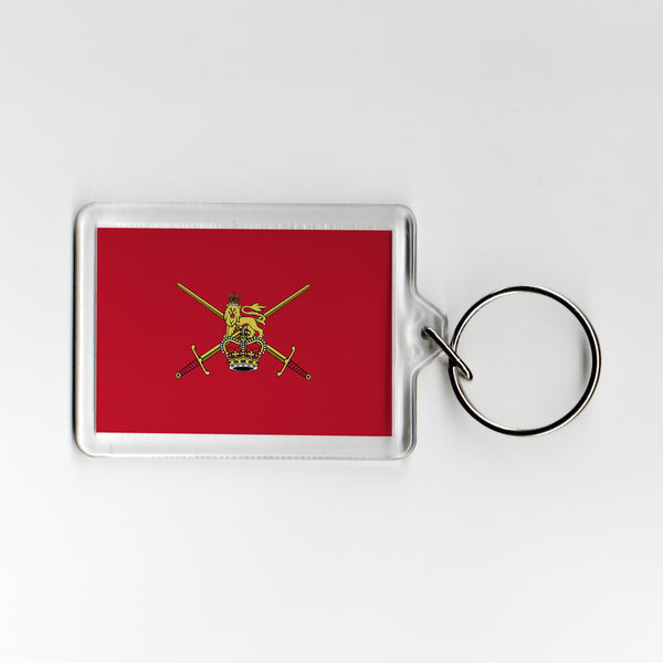 Red Army Ensign Military Plastic Keyring