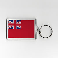 Merchant Navy Ensign Military Plastic Keyring