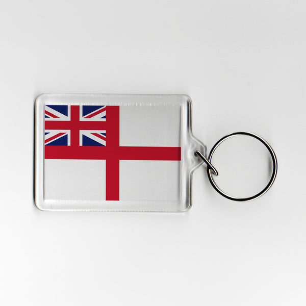 Navy Ensign Military Plastic Keyring