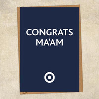 Congrats Chief Ma'am Congratulations Greetings Card UK Military Card