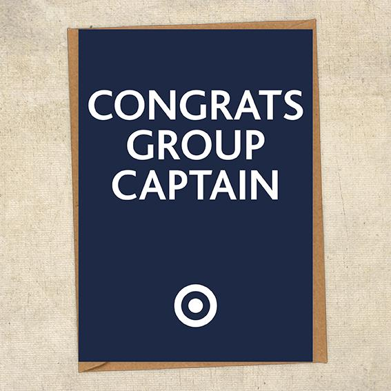 Congrats Group Captain Congratulations Greetings Card UK Military Card