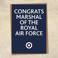 Congrats Marshal Of The Royal Air Force Congratulations Greetings Card UK Military Card