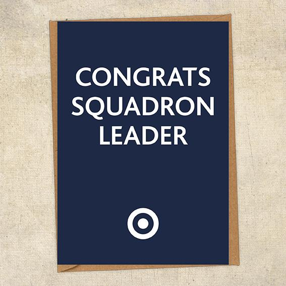 Congrats Squadron Leader Congratulations Greetings Card UK Military Card