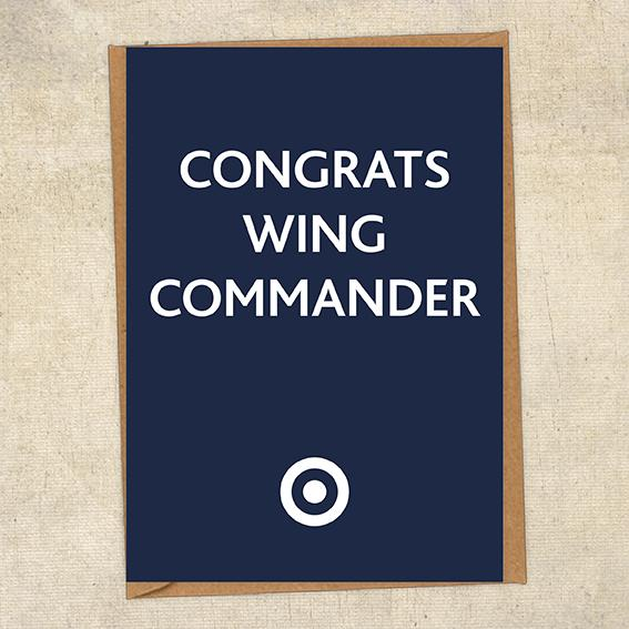 Congrats Wing Commander Congratulations Greetings Card UK Military Card
