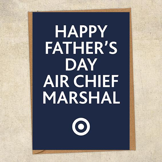 Happy Father's Day Air Chief Marshal Father's Day Card Military Card