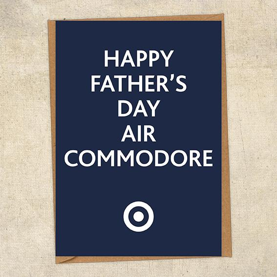 Happy Father's Day Air Commodore Father's Day Card Military Card