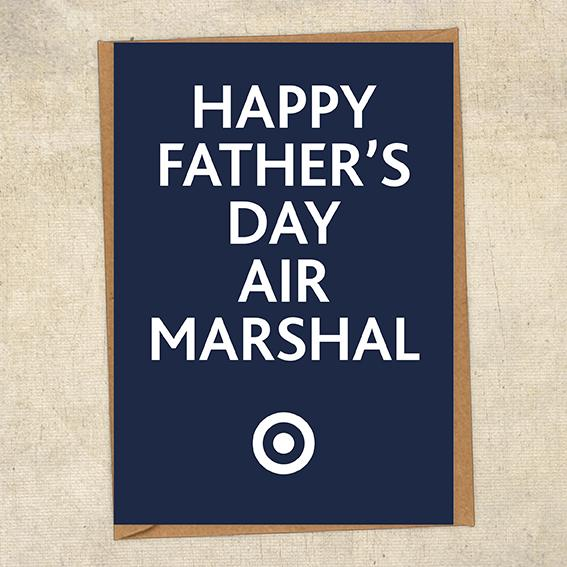 Happy Father's Day Air Marshal Father's Day Card Military Card