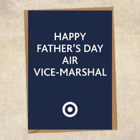 Happy Father's Day Air Vice-Marshal Father's Day Card Military Card