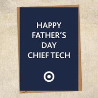 Happy Father's Day Chief Tech Father's Day Card Military Card