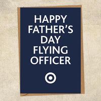 Happy Father's Day Flying Officer Father's Day Card Military Card