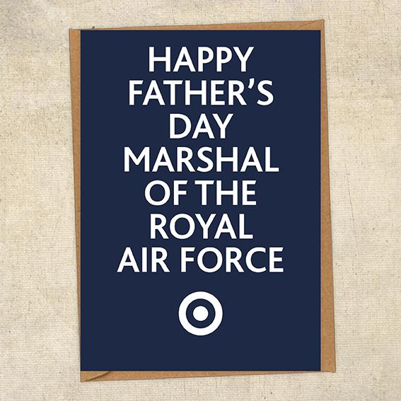 Happy Father's Day Marshal Of The Royal Air Force Father's Day Card Military Card