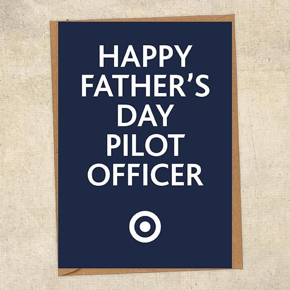 Happy Father's Day Pilot Officer Father's Day Card Military Card