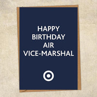 Happy Birthday Air Vice-Marshal RAF Birthday Card UK Military Card