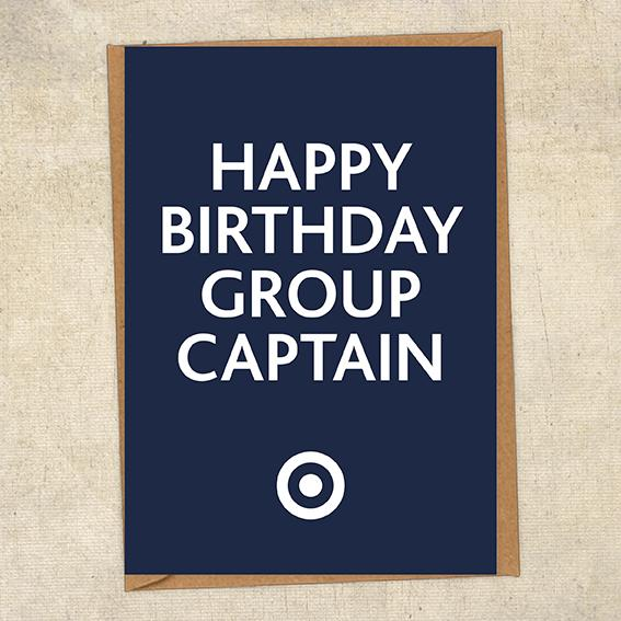 Happy Birthday Group Captain RAF Birthday Card UK Military Card