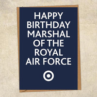 Happy Birthday Marshal Of The Royal Air Force RAF Birthday Card UK Military Card