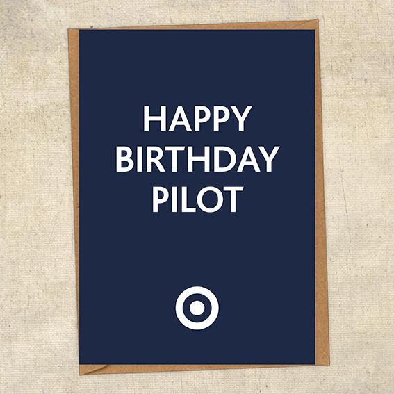 Happy Birthday Pilot RAF Birthday Card UK Military Card