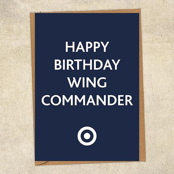 Happy Birthday Wing Commander RAF Birthday Card UK Military Card