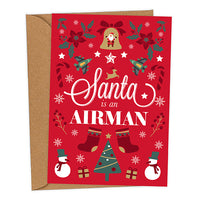 Santa is an Airman UK Military Christmas Card