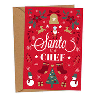 Santa is a Chef UK Military Christmas Card