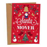 Santa is a Mover UK Military Christmas Card