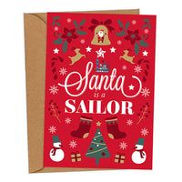 Santa is a Sailor UK Military Christmas Card