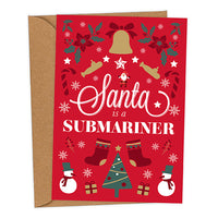 Santa is a Submariner UK Military Christmas Card