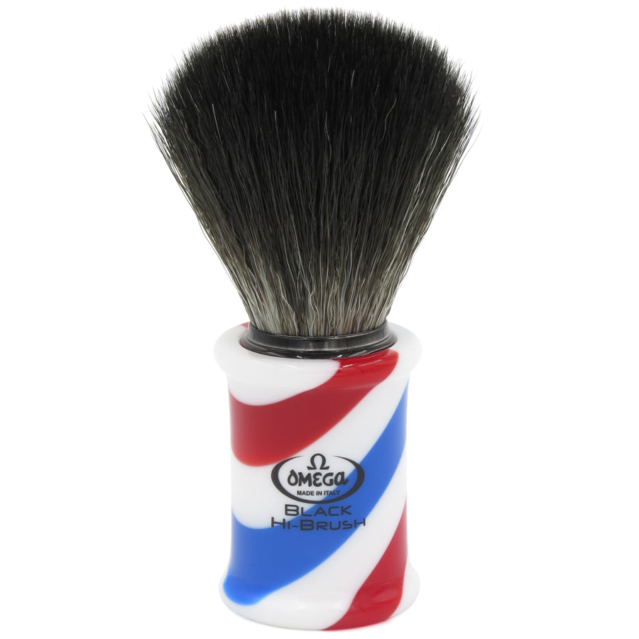 Brocha Sintetica Black HiBrush de Resina Barber Pole