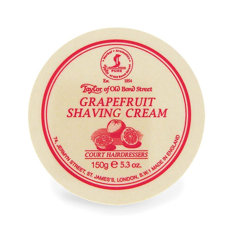 Taylor Shaving Cream 150g Bowl Grapefrui