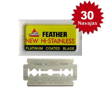 Navaja Doble Filo Feather 30 pack Envío Gratis.