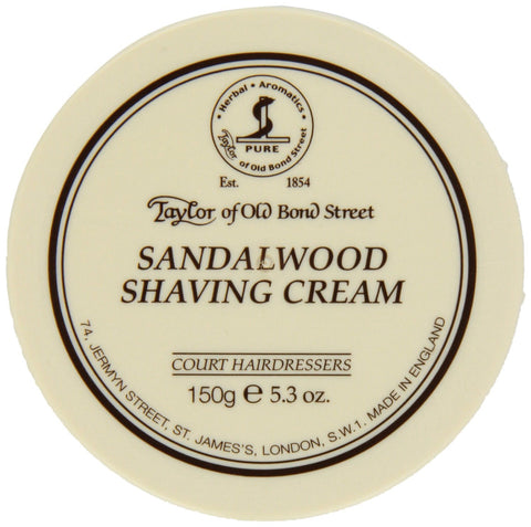 Taylor Shaving Cream 150g Bowl Sandalwoo