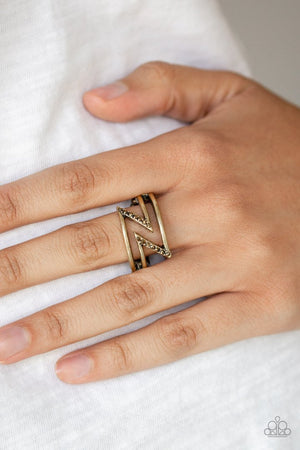 5th Avenue Flash Brass Ring