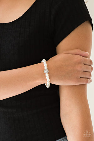 Follow My Lead White Bracelet