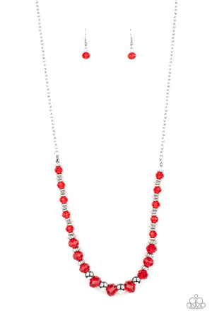 Stratosphere Sparkle Red Necklace