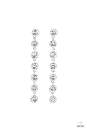 Dazzling Debonair White Post Earring