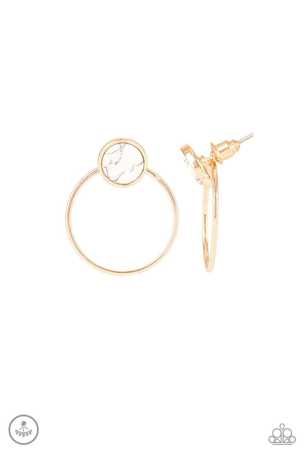 Simply Stone Dweller Gold Post Earring
