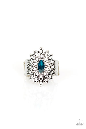 Blooming Fireworks Blue Ring